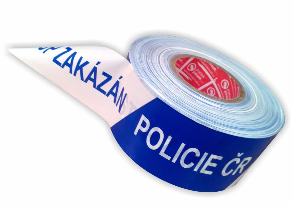 detailní informace o POLICIE ČR - VSTUP ZAKÁZÁN vytyčující páska 330 m (potiskpasek)