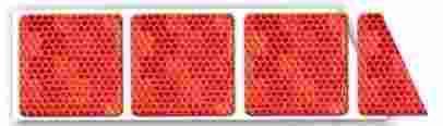 Reflexní páska červená pro značení plachet kamionů