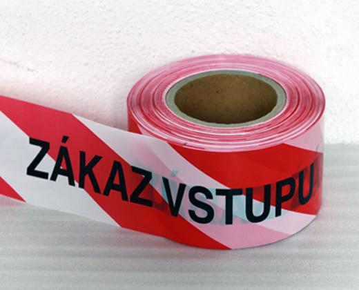 """detailní informace o Vytyčovací ohraničující páska """"ZÁKAZ VSTUPU""""  (potiskpasek)"""