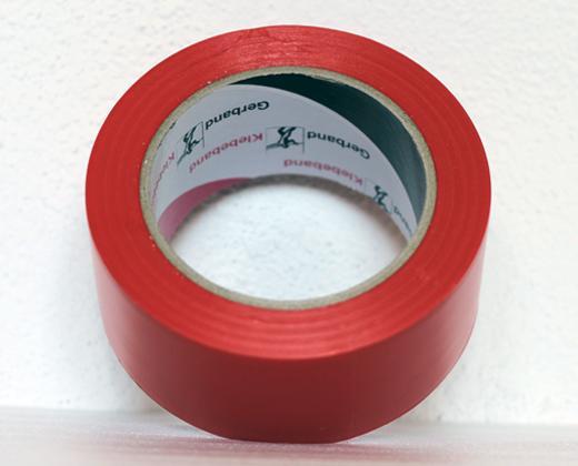 Podlahová lepicí páska síla 150 µm - červená