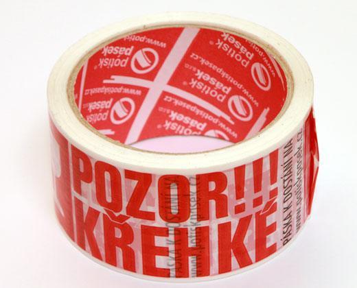 """detailní informace o Balicí lepicí páska š. 50 mm """"POZOR KŘEHKÉ, FRAGILE"""" za dotovanou cenu (potiskpasek)"""