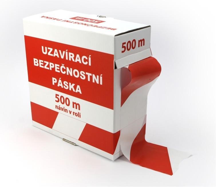 detailní informace o *Ohraničovací vytyčovací páska ČERVENO/BÍLÉ PRUHY včetně krabičky pro odvíjení (potiskpasek)