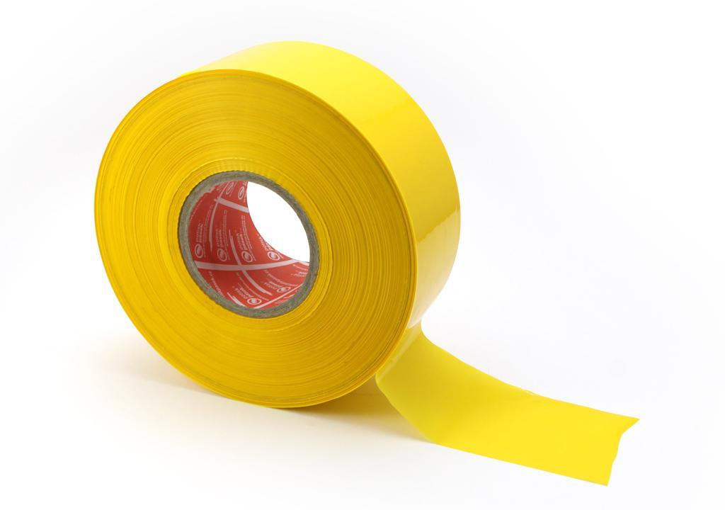 Vytyčující ohraničující páska - ŽLUTÁ BEZ POTISKU