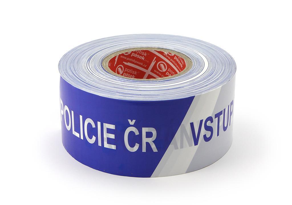 POLICIE ČR - VSTUP ZAKÁZÁN včetně krabičky pro odvíjení